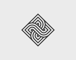 Vector geometric icon. Linear style logo.
