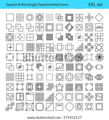 vector geometric icons for ux