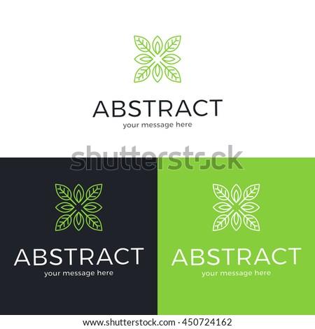 Vector geometric logo design. Abstract logo template. Vector illustration.
