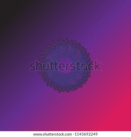 Vector geometric logo design. Fantasy geometric pattern. Trigonometric image