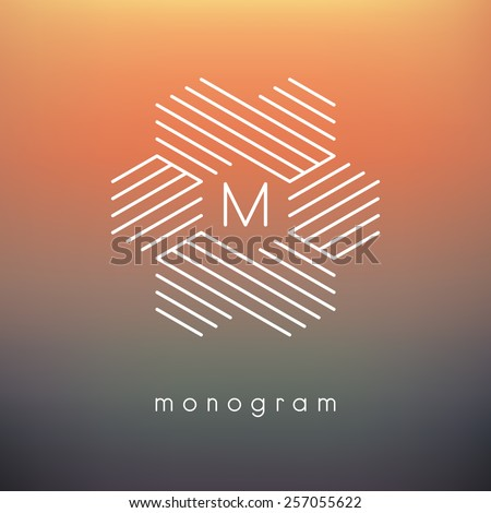 vector geometric monogram