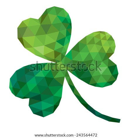 vector geometric polygonal shamrock