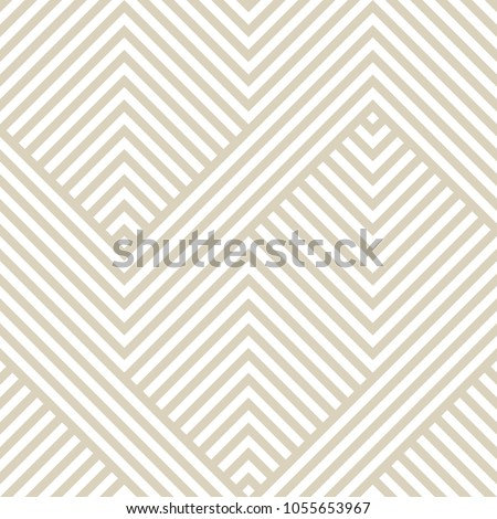 Vector geometric seamless pattern. Modern texture with lines, stripes. Simple abstract geometry graphic design. Subtle minimalist white and beige background. Trendy design for prints, fabric, covers