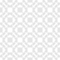 Vector geometric seamless pattern. Simple abstract texture with ornamental grid, mesh, curved lattice, floral shapes. Subtle white and light gray background. Repeat design for decor, textile, print