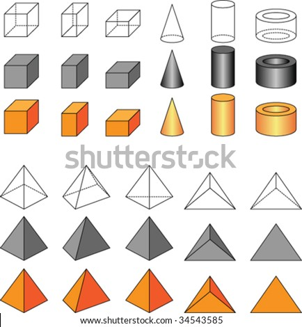 Related Pictures geometric 3d shapes names