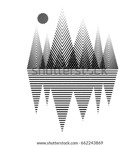 Vector geometric triangle background, abstract mountains.Conceptual background, with mountains.Flat design, with minimal elements.Use for card, poster, brochure,banner,web.Interior print.