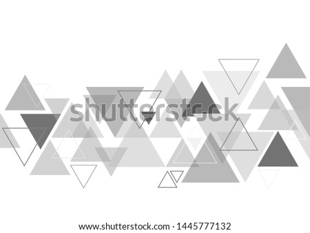 vector geometric triangle graphic background.