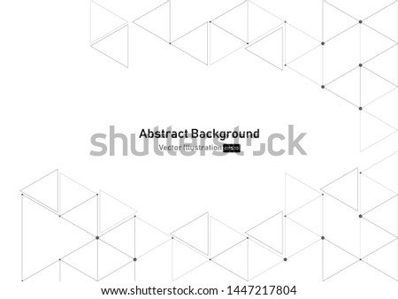 vector geometric triangle graphic background.Modern technology Polygonal structure.abstraction with lines and points. #1447217804