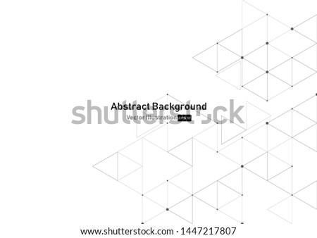 vector geometric triangle graphic background.Modern technology Polygonal structure.abstraction with lines and points. #1447217807
