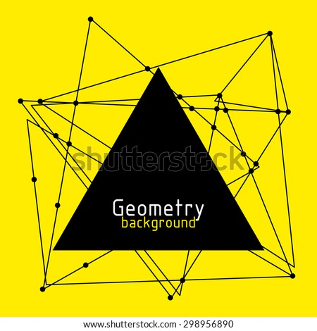 vector geometric yellow