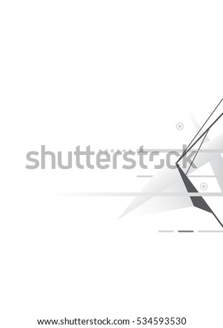 vector geometry graphic abstract, triangle minimal clean background A4 size #534593530