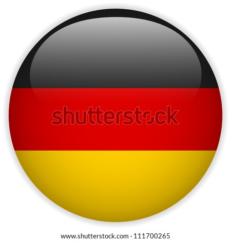 vector   germany flag glossy