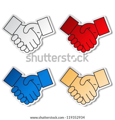 Vector gesture hand - handshake symbol