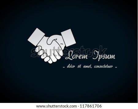 Vector gesture hand - handshake symbol, background