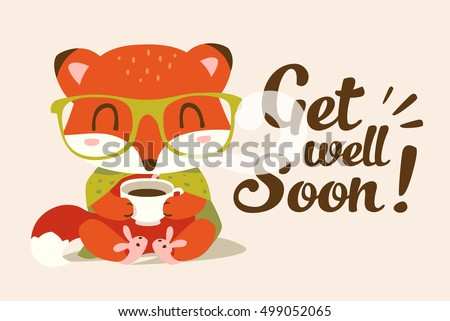 vector get well soon