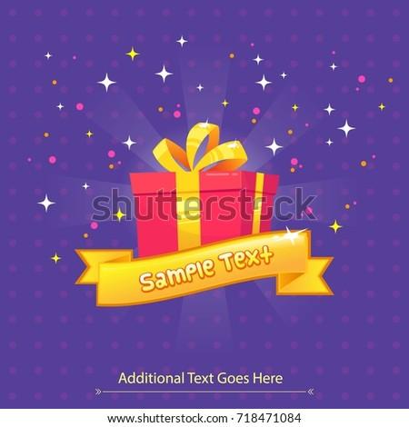 vector gift box greeting card
