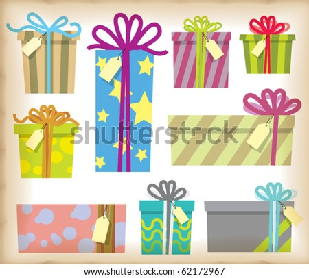 Vector Gift Box with Tag