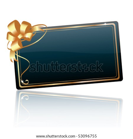 Vector gift card - stock vector