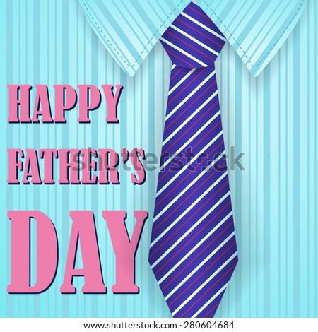 vector gift card for a fathers day with a tie and text
