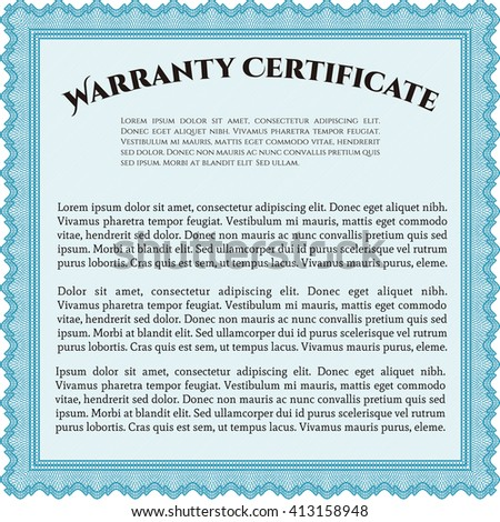 Vector Gift Certificate. Excellent design. Complex background. Customizable, Easy to edit and change colors.