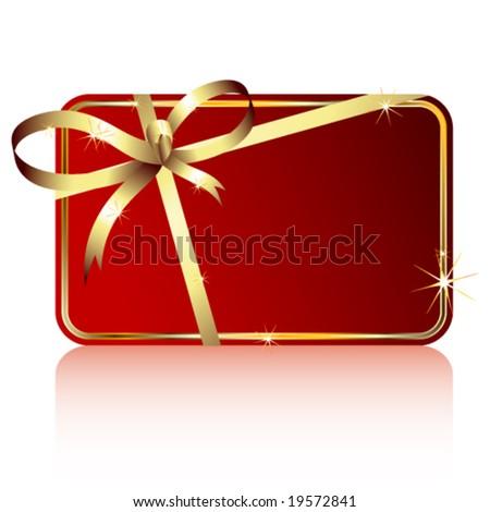 Vector gift tag
