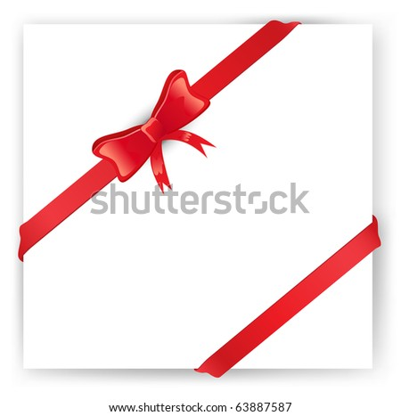 Vector gift wit bow