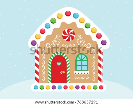 vector gingerbread house