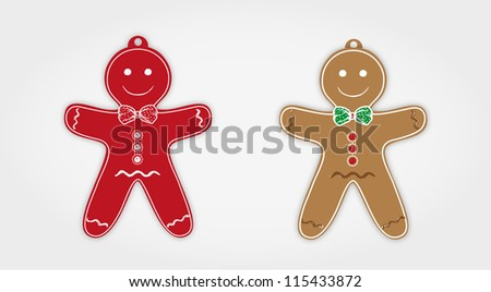 Vector gingerbread men
