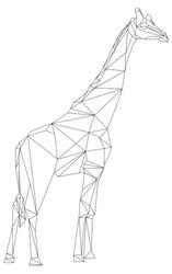 Vector - giraffe animal geometric isolatet on background