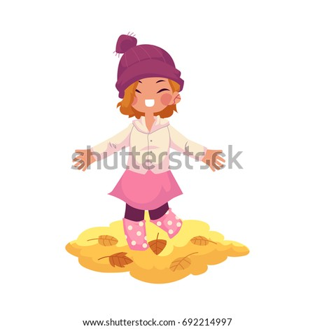 vector girl child wearing