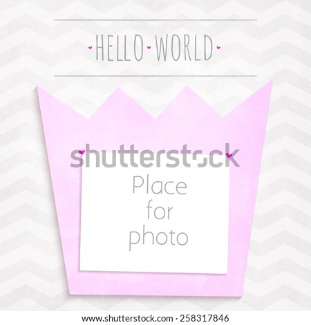 vector girl page photo crown