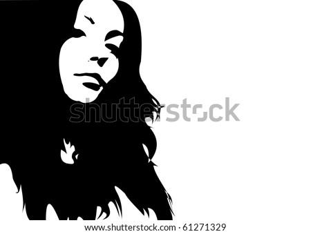vector girl's face