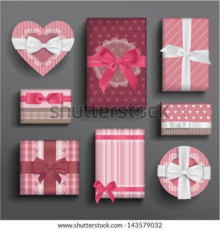 vector girly romantic valentine'