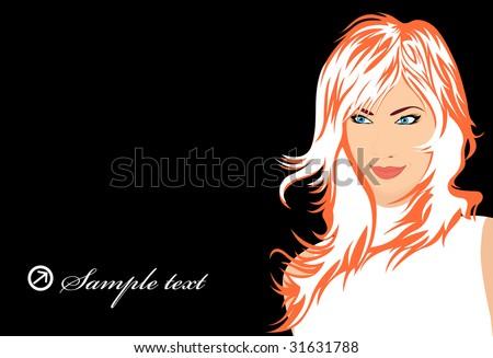 glamour girl; clip-art