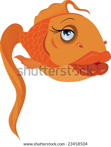 Vector, glamour gold fish