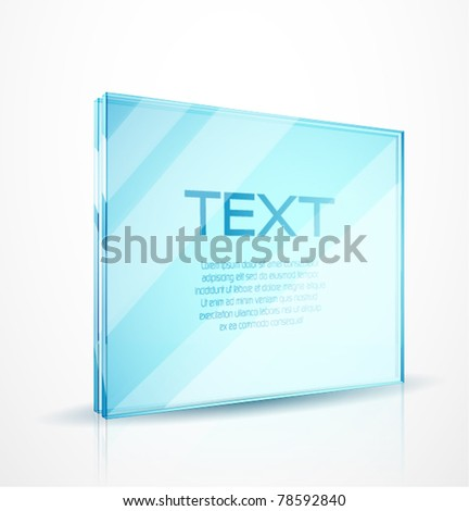 Vector glass frame for text