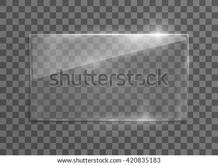 vector glass frame isolated on