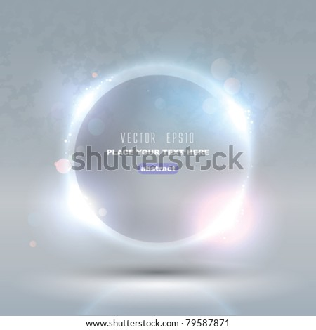 Vector Glass Glossy Sphere. Abstract Background - stock vector