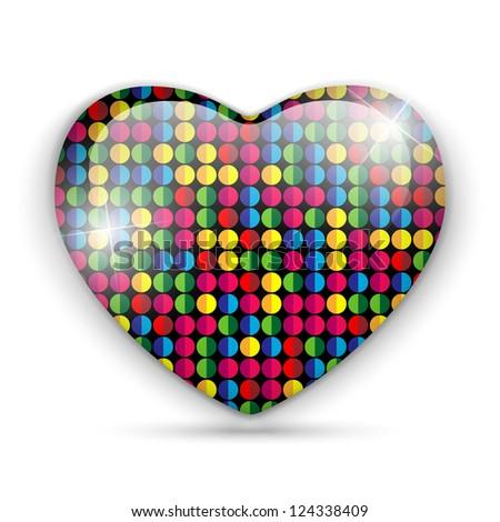 Vector - Glass Heart Dots Color Texture