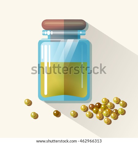 vector glass jar with mustard