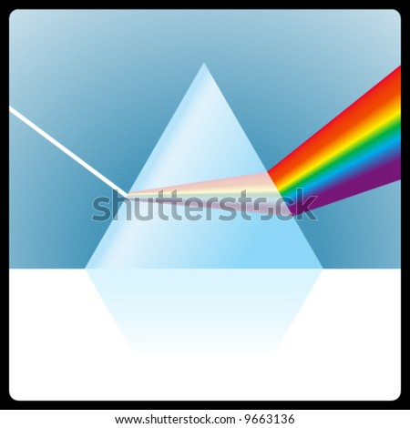 vector glass prism - stock vector