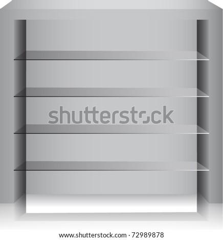 Vector glass shelves.