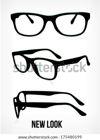 vector glasses silhouette