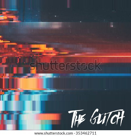 vector glitch background