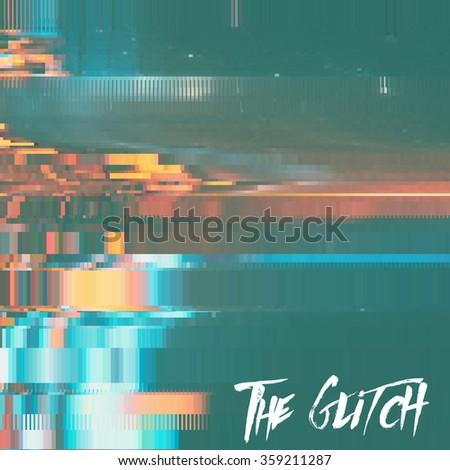 vector glitch background