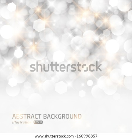 vector glittery lights silver