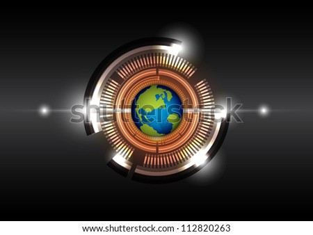 vector global future communication technology background