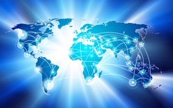 Vector global network connection concept