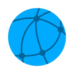 vector global network icon, internet technology abstract, social networking sign symbol - communication concept