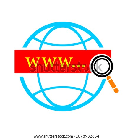 vector global network icon - internet technology, world networking illustration